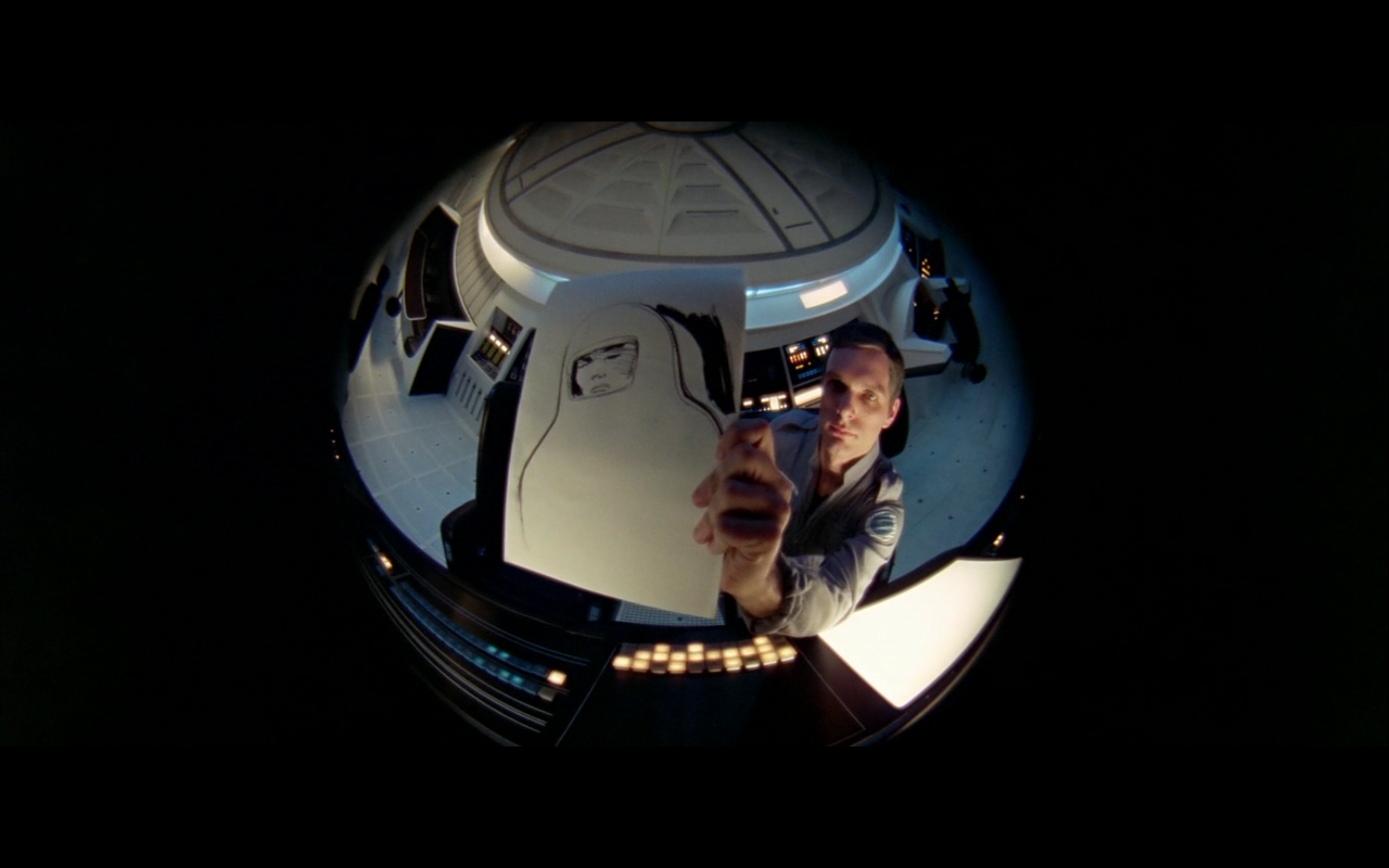 A fisheye lens gives us HAL's perspective.