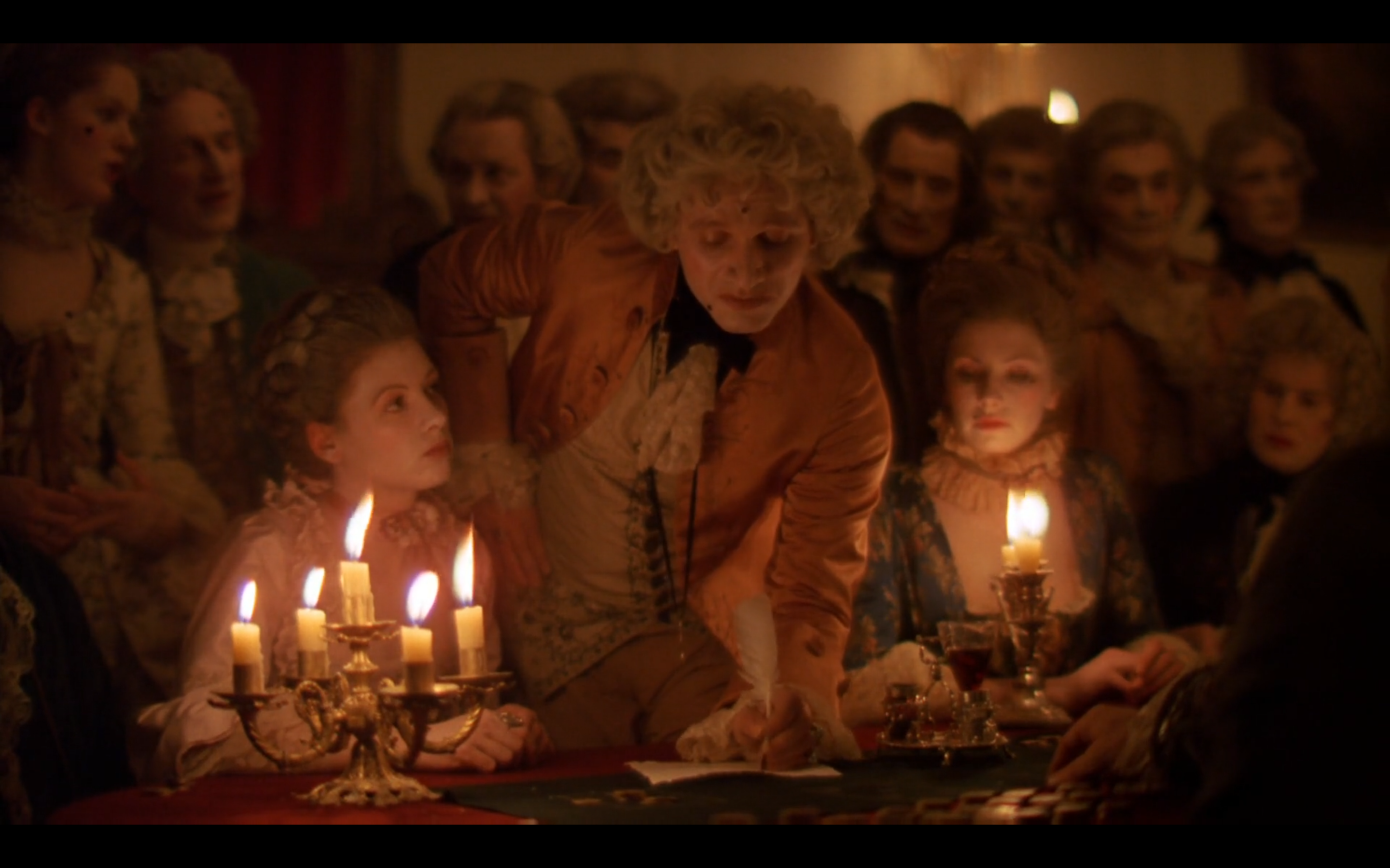 Kubrick used only natural lighting in Barry Lyndon, giving the interior shots a realistic feel.